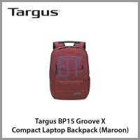 Targus BP15 Groove X Compact Laptop Backpack (Maroon)
