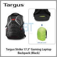 "Targus Strike 17.3"" Gaming Laptop Backpack (Black, with Rain Cover)"