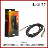 DENN Professional Microphone Cable (10 meter, Black)