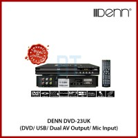 Denn DVD-23UK (DVD/ USB/ Dual AV Output/ Mic Input) DVD Player