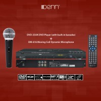 Denn DVD-33UK DVD Player (DVD/CD/VCD/USB/Karaoke/CD Ripping) with DM-616 Wired Microphone