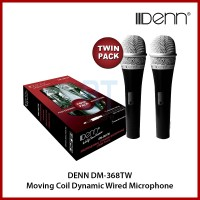 DENN DM-368TW Moving Coil Dynamic Wired Microphone (Twin Pack)