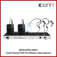 DENN DPM-268VC Dual Channel VHF Pro Wireless Microphone